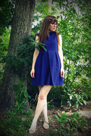 purple Tulle dress - pink H&M accessories - pink thrifted vintage Ferragamo shoe