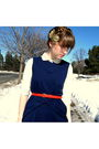 Blue-tulle-dress-orange-thrifted-belt-white-vintage-blouse-white-target-ti