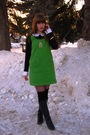 Green-tulle-courtesy-of-modcloth-dress-black-thrifted-shirt-gold-vintage-nec
