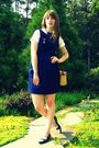 Blue-tulle-dress-blue-thrifted-vintage-shoes-brown-thrifted-purse-white-th