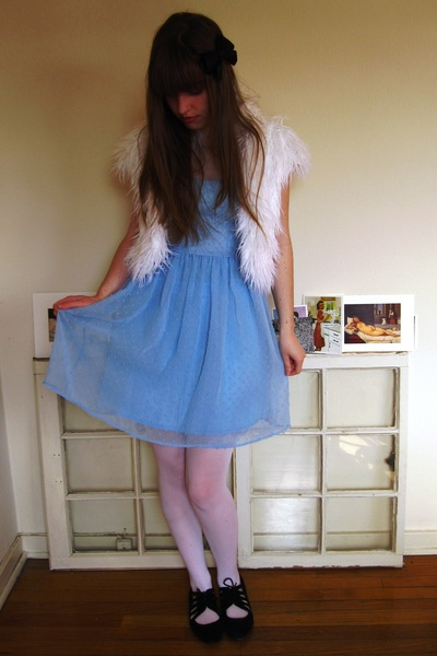 blue Rodarte for Target dress - black Urban Outfitters shoes - white Target tigh