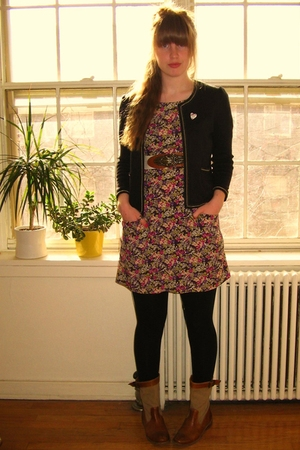 wilfred dress - Urban Outfitters blazer - Frye boots - vintage belt - moms old s