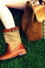 Brown-frye-boots-brown-vintage-thrifted-purse-white-h-m-dress-white-vintag