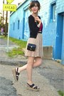 Hot-pink-forever-21-top-beige-skirt-beige-urban-outfitters-sandals