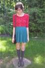 Red-forever-21-shirt-gray-charlotte-russe-socks