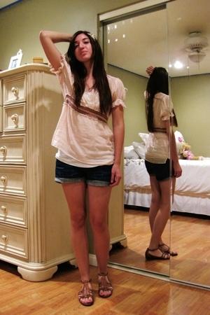 American Rag blouse - Forever21 shorts - Tahari shoes