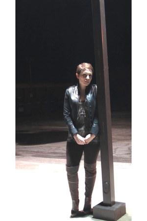 Rag and Bone jacket - Helmut Lang t-shirt - American Apparel leggings - Extreme