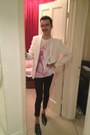 Navy-ask-the-missus-shoes-white-zara-blazer-bubble-gum-sisley-t-shirt