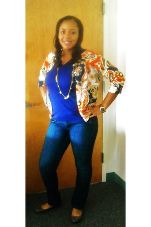 JCpenney shoes - Nordstrom jeans - Marshalls cardigan - Forever 21 necklace - Ta