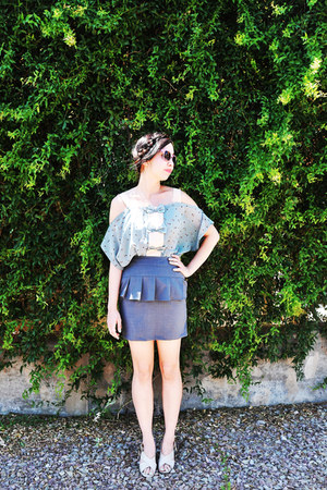 peplum skirt Bonne Chance Clolections skirt - vintage sunglasses