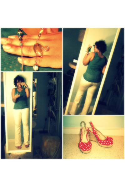 Forever 21 top - Victorias Secret pants - payless shoes - Forever 21 accessories
