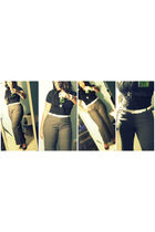 Forever 21 blouse - Lane bryant gross HATE LB lol pants - Nine West shoes - Fore