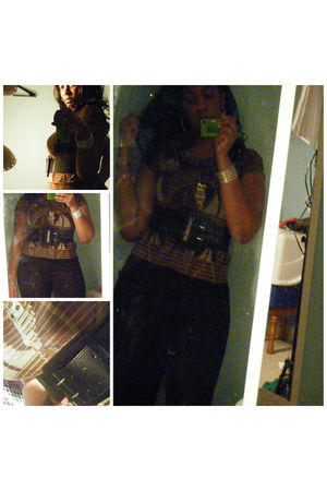 Forever 21 sweater - Forever 21 belt - Hot Topic pants