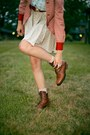 Aquamarine-girl-scout-vintage-blouse-brown-lace-up-vintage-boots