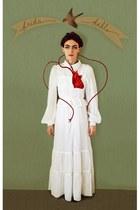 white Goodwill dress - white American Apparel blouse