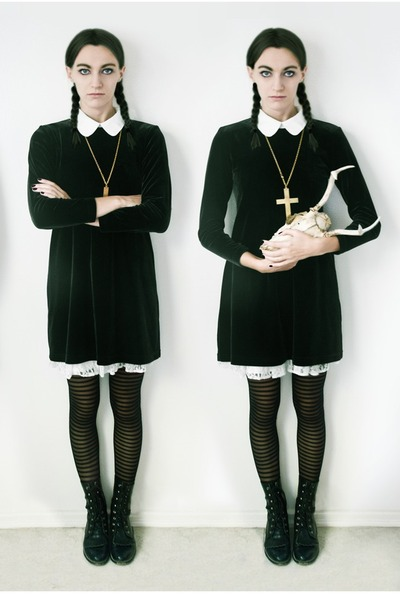 white Blouse blouse - black black boots boots boots - black Salvation Army dress