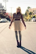 dark khaki sequined Urban Outfitters vest - eggshell Urban Outfitters dress