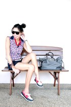Sperry Top Sider shoes - Prada bag - Zara top