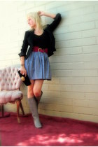 Theory blazer - American Apparel intimate - American Apparel skirt - made by me 