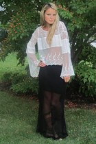 free people shirt - sam edelman boots - free people skirt