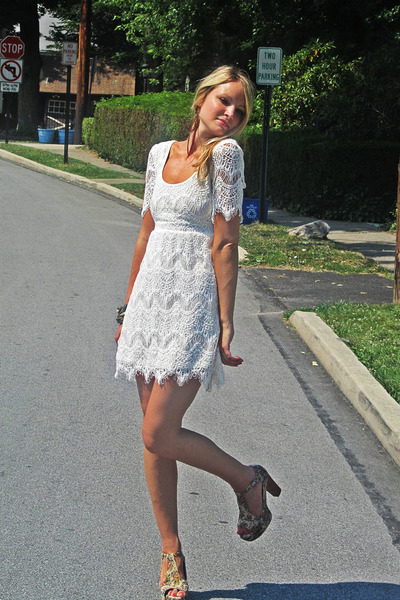 Urban Outfitters dress - Jeffrey Campbell heels - Urban Outfitters earrings
