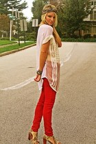 Rich & Skinny jeans - free people blouse - turban free people accessories