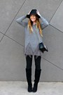 Knee-high-shoedazzle-boots-fedora-target-hat-fringed-lookbook-store-sweater