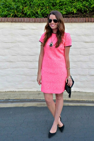 Hot Pink Neon Banana Republic Dress Black Cross Body H M Bag