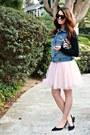 Tulle-zara-dress-beaded-vintage-purse-black-manolo-heels
