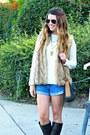 Riding-ralph-lauren-boots-cream-shabby-apple-sweater-denim-forever-21-shorts