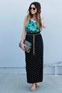 Leopard-print-h-m-bag-polka-dot-forever-21-skirt