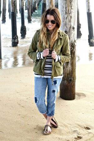 utility Zara jacket - boyfriend Macys jeans - striped Target t-shirt