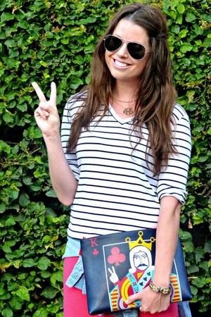 midi Downeast Basics skirt - chambray Forever 21 shirt