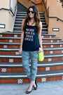 Neon-forever-21-bag-studded-target-heels-camo-old-navy-pants