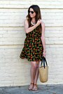 Pineapple-print-tjmaxx-dress-straw-tote-target-bag-target-sandals