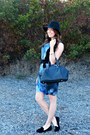 Suede-rebecca-minkoff-dress-fedora-target-hat-bowler-zara-bag