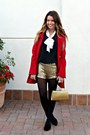 Red-tulle-jacket-sequined-forever-21-shorts-bow-target-blouse