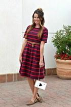 ace OASAP bag - stripes Downeast Basics dress - leopard Target belt