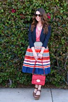 striped Downeast Basics skirt - navy Urban Outfitters blazer