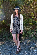 black and white Angie romper