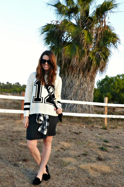 black CPShades dress - black and white Forever 21 sweater
