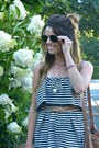 Striped-zara-dress-bucket-old-navy-bag-aviator-forever-21-sunglasses