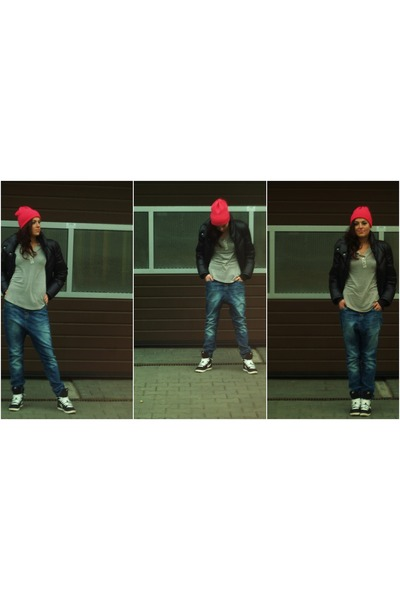 Bershka jeans - no name hat - Puma jacket - nike sneakers