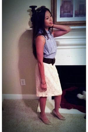 Forever 21 sunglasses - Forever 21 belt - banana republic blouse - H&M skirt