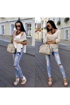 Marc by Marc Jacobs watch - Tally Weijl jeans - Fb sisters sweater - Guess bag