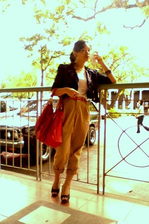 romeo gigli pants - thrifted blazer - Chloe bag - random top