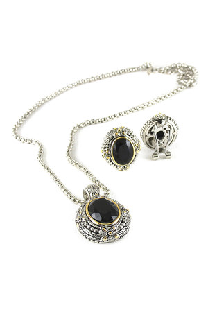 silver silver stone AbsoluteAccessorycom necklace