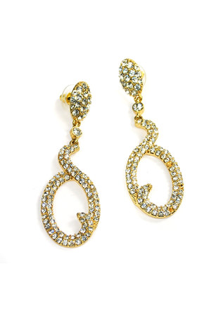 gold gold rhinestone AbsoluteAccessorycom earrings
