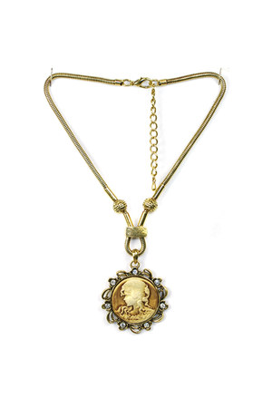 bronze brass cameo AbsoluteAccessorycom necklace