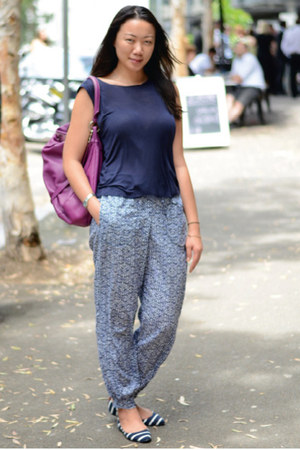 H&amp;M pants - Marc by Marc Jacobs bag - Topshop top